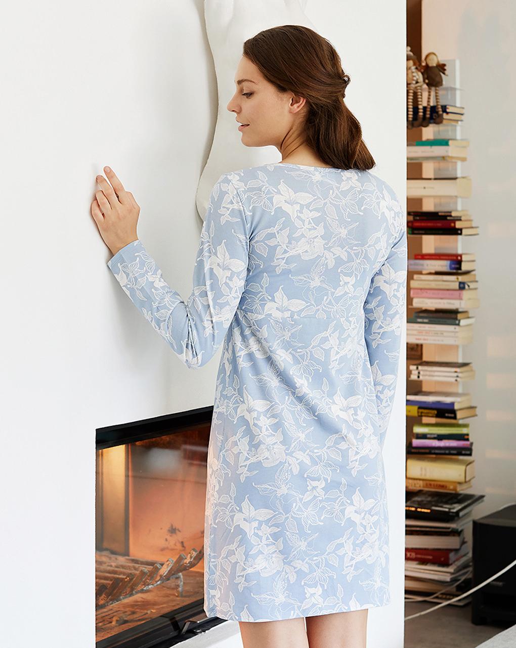 Camicia da notte allattamento fantasia boho flowers - Prénatal