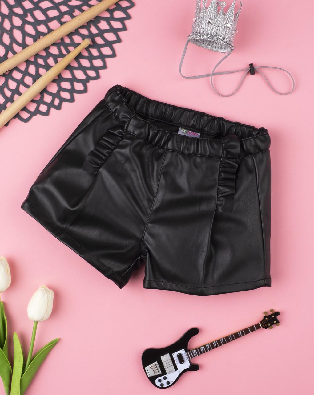 Shorts girl finta pelle black - Prénatal