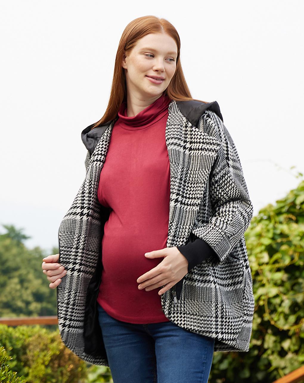 Cappotto premaman tricot con cappuccio - Prénatal