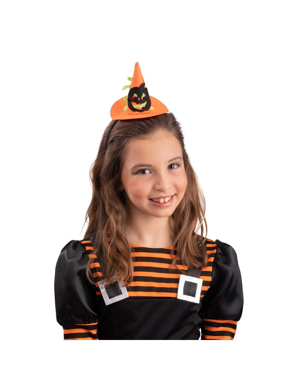 Mini cappello strega con zucca e cerchietto - Carnival Toys