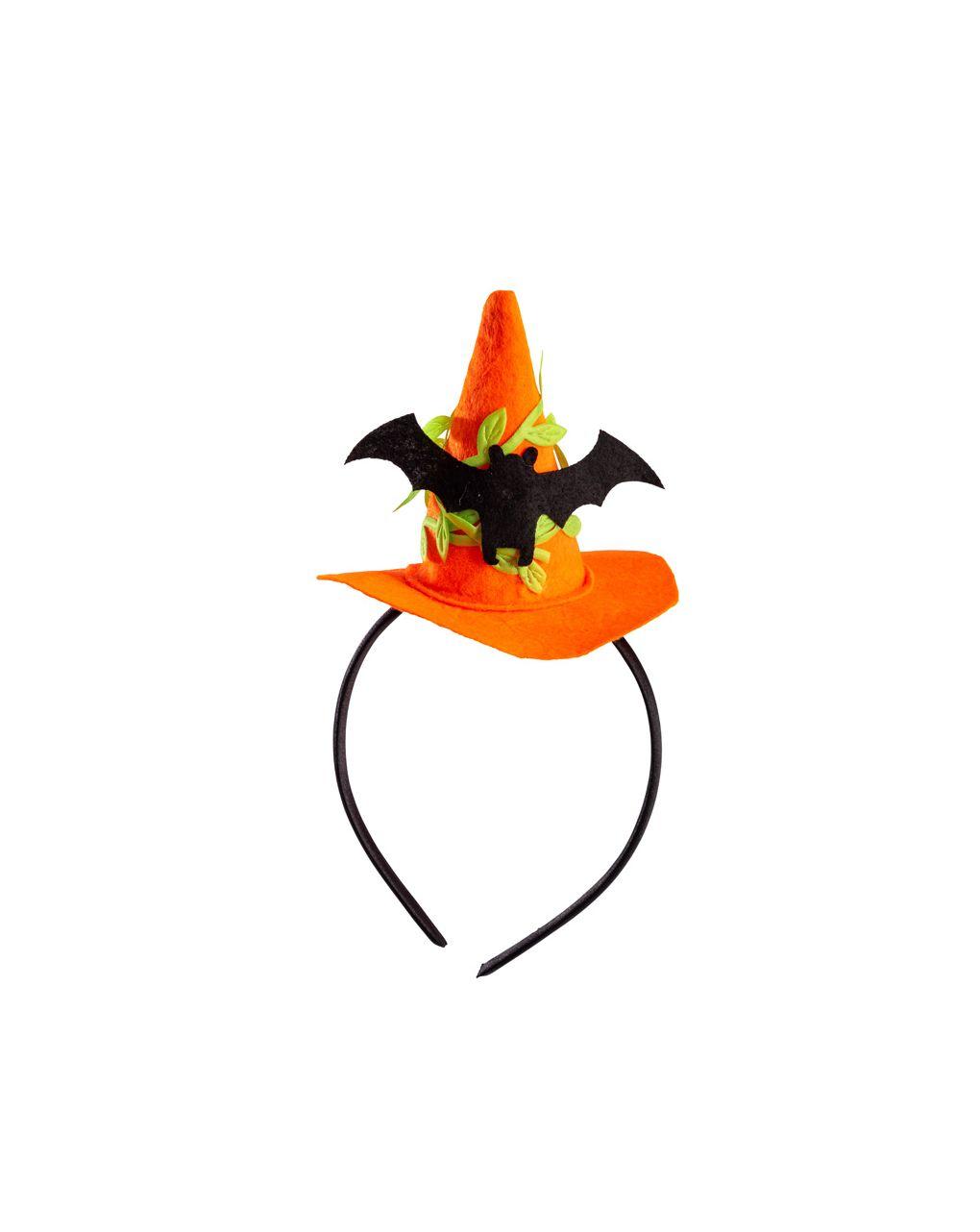 Mini cappello strega con pipistrello e cerchietto - Carnival Toys