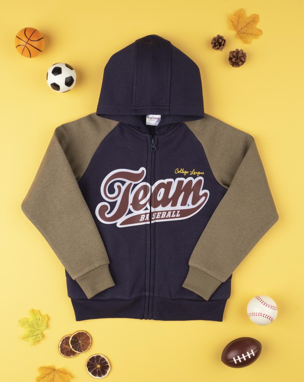 "Felpa boy ""team baseball"" - Prénatal"