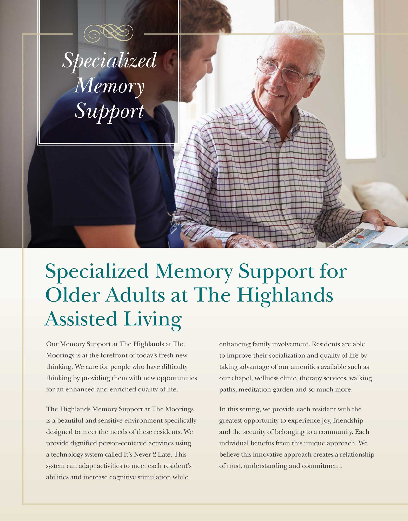 Memory Support Brochure