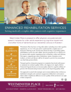 Westminster Place - Memory Care and Rehab Brochure