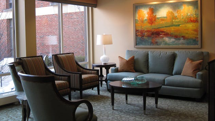 an example of a living room inside of a senior living apartment