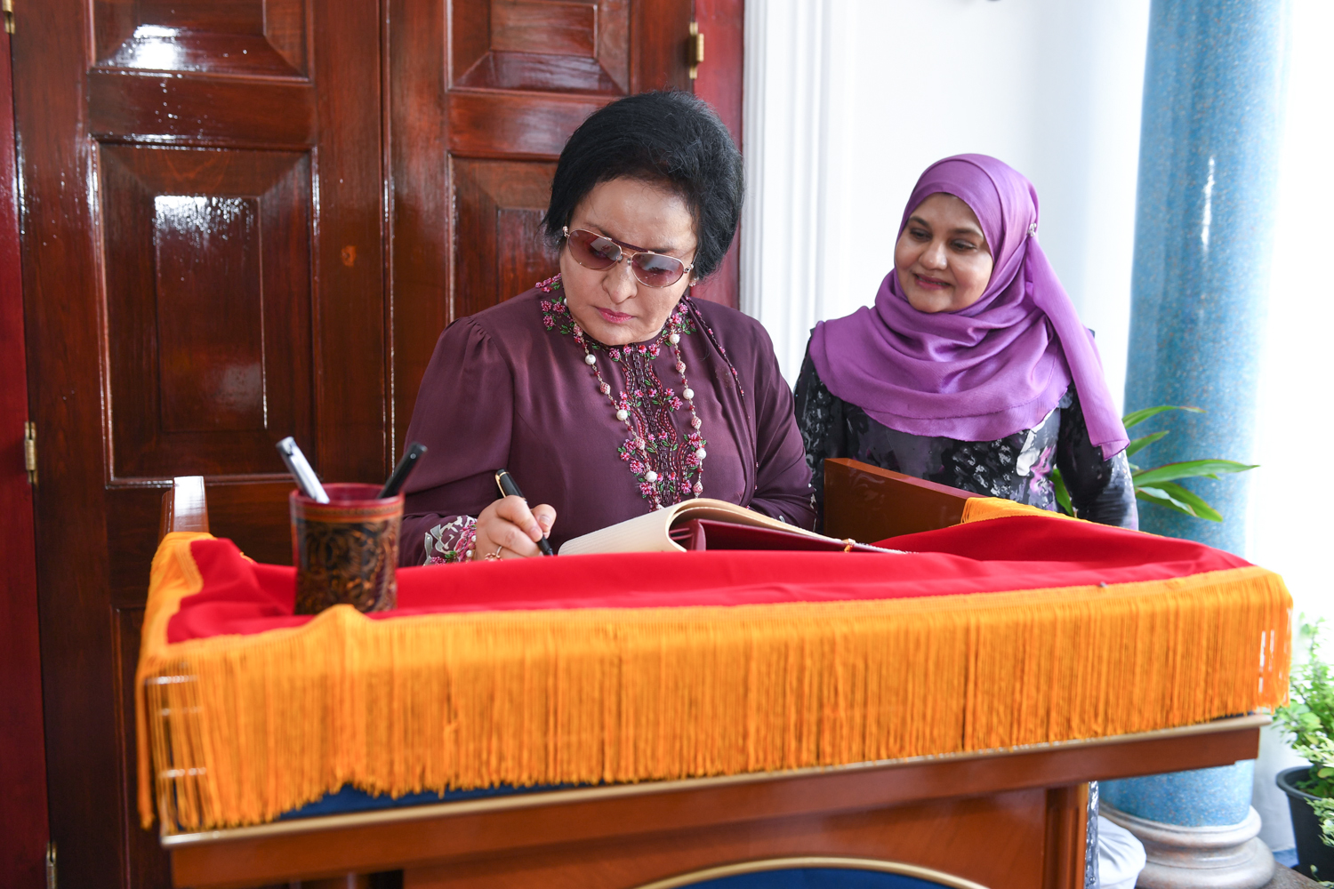 First Lady Fathimath Ibrahim meets with First Lady of