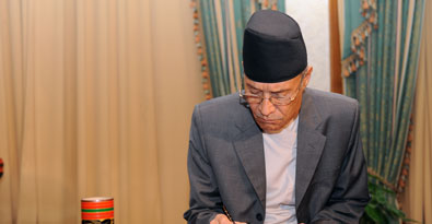 New Nepali Ambassador to the Maldives presents credentials to the