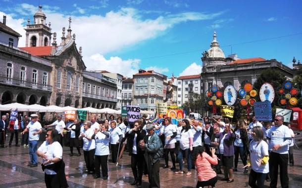 Instituições de Terras de Bouro participaram em 'flash mob' para alertar para maus-tratos a idosos