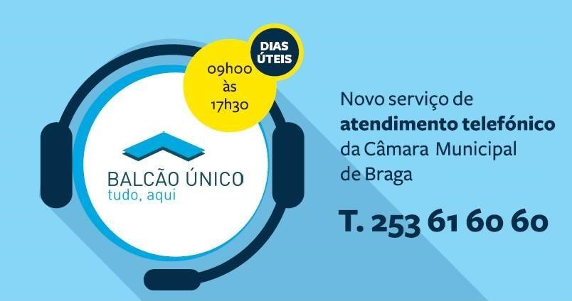 Câmara de Braga com Serviço de Atendimento Telefónico