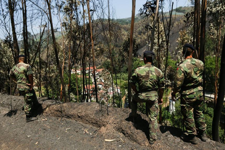 Incêndios: Militares reforçam vigilância no distrito de Braga por tempo indeterminado