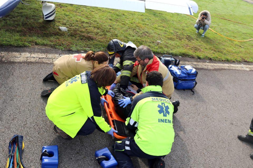 Simulacro testa Plano de Emergência do Aeródromo Municipal de Braga