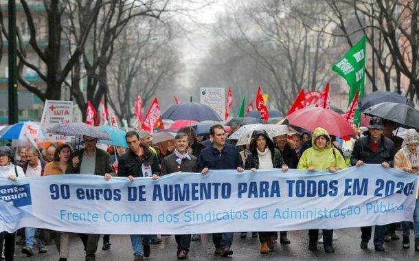Frente Comum marca greve para 20 de Março