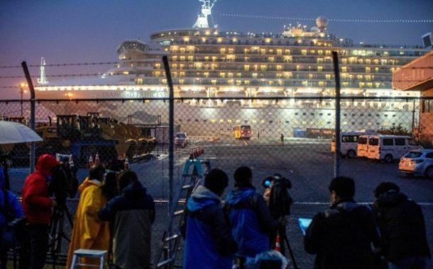 Tripulante português de navio de cruzeiro atracado no Japão infectado com Covid-19
