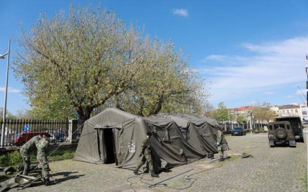 Exército monta tendas no Centro de Saúde e Hospital de Barcelos