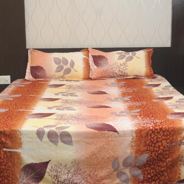 0d793f2bb5c Best deals for Rangoli Brown Multicolor Tree And Leaves Design Bedsheet  With Free Pillow Covers in Nepal - Pricemandu!