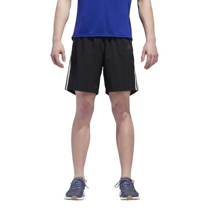 Consejos Nadie reaccionar  Best deals for Adidas Black/White Running 3-Stripes Shorts For Men - DM1666  in Nepal - Pricemandu!