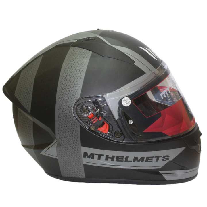 2b44dbe4 Best deals for MT Helmets Grey Stringer Affair A2 Matt Helmet in ...