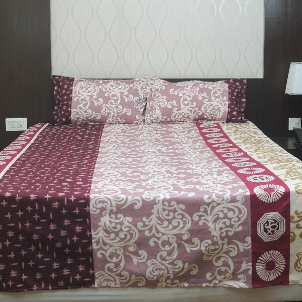 f28ce623933 Best deals for Rangoli Maroon Color With Different Design Design Bedsheet  With Free Pillow Covers in Nepal - Pricemandu!