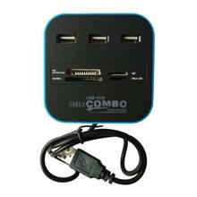 All In One Card Reader With 2.0 USB Hub