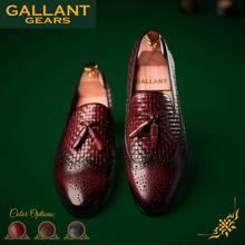 Gallant Gears Red Leather Slip On Formal Shoes For Men - (620-18B)