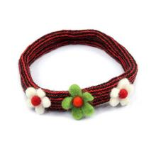 Red Floral Designed Hairband For Women