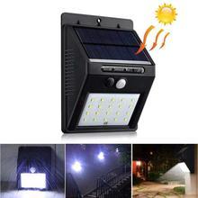 Black Solar Powered LED Bright Motion Sensor Light
