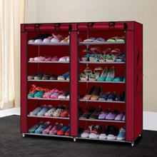 Double Layers Portable and Folding Shoe Rack - (120 x 30 x 108 cms)