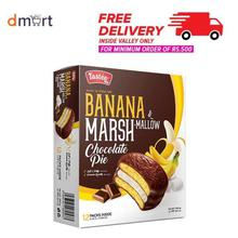 Tastee Banana Marshmallow Choco Pie - 300gm (25gm x 12 packs)