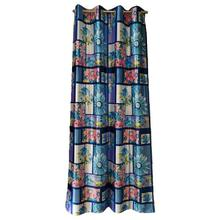 Digital Print Curtains With Blue Floral Patterns