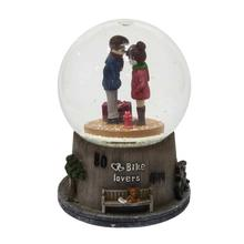 Multi-color Couple Snow Globe Showpiece