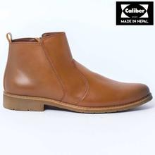 Caliber Shoes Tan Brown Side Chain Lifestyle Boots For Men - ( CS 477 C)