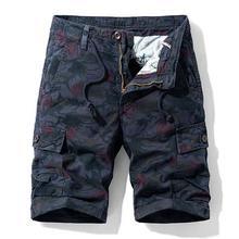 Men's Summer Shorts Camouflage Military Cargo Shorts Men
