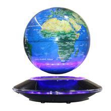 Blue UFO Revolving Maglev Globe