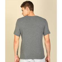Nike Printed Men Round Neck Grey T-Shirt