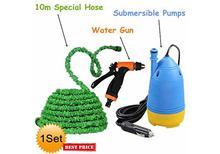 DC Portable High  Pressure  Car Washer Submersible Pump With Water Gun + Special Hose Pipe 10m + Brush Set