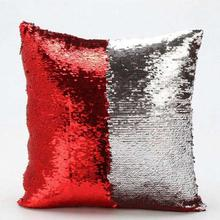 Red/Silver Sequin Embellished Cushion