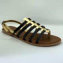 Theea Grey/Gold Gladiators Sandal For Women
