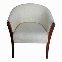 Sunrise Furniture Seesau Wood C Chair - Light Grey/Walnut
