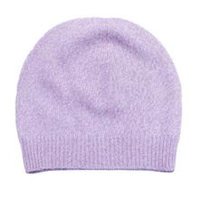 Light Purple Solid 100% Cashmere Cap