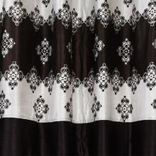 Long Crush Patch In Black Pendal Design Curtains
