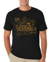 Black 'Born To Travel' Printed T-Shirt For Men