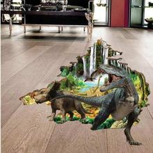 Animated Dinosaurs 3D Decor Floor and Wall Stickers (mws-9217)