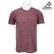 Round Neck Textured T-Shirt For Men- Maroon