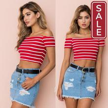 SALE- Streetwear Women Sexy Casual Off Shoulder Tank Top