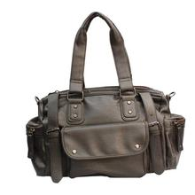 Coffee Brown PU Leather Unisex Weekender