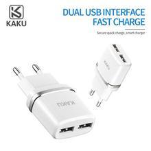 KAKU 2.4A EU Authority Power Dual USB Port Travel Wall Charger Adapter