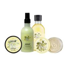 The Body Shop Combo Of Moringa Bath Essentials (Body Butter, Body Scrub, Body Shower Gel and Body Lotion) - Set Of  4