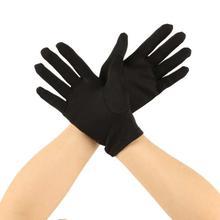 Thin Unisex Wrist Length Black Fleece Gloves