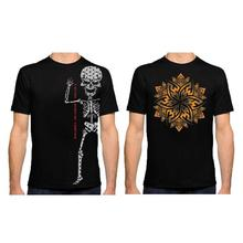 Pack Of 2 'Skeleton/Floral' Printed T-Shirts For Men – Black