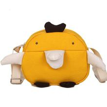 Women's Funny Duck Canvas Shoulder Bag (Yellow 41001919)
